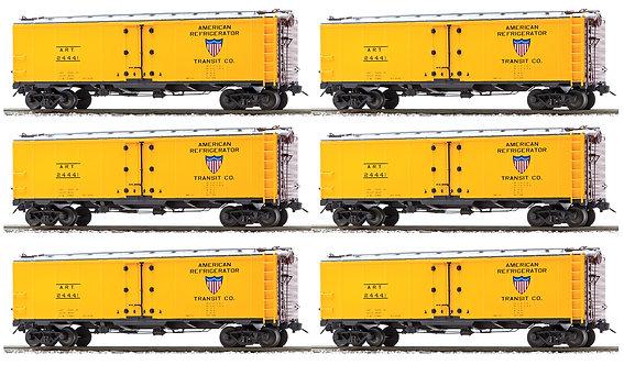 AM32-518 PFE Reefer -American Refrigerator Transit(ART Reporting Marks)6 car set