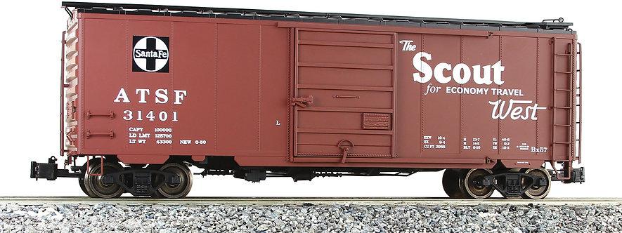 G401-10C PS-1 Box Car - Santa Fe, Scout #31401, 1 car