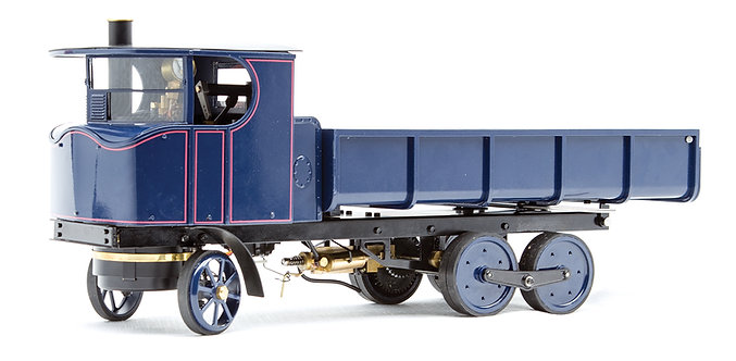 "T392-7DB 3/4"" Scale Sentinel DG6 Lorry, Dark Blue w/ Red Lining, Butane Fired"