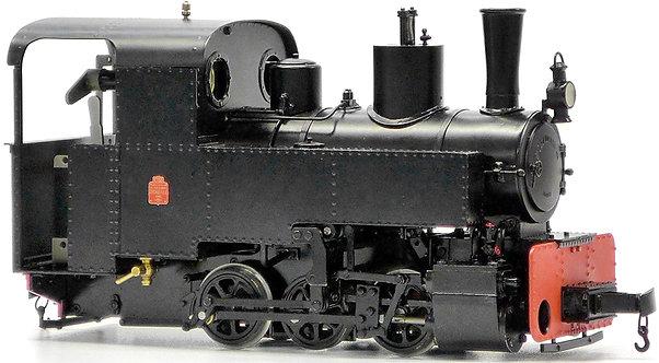 AL87-212B Decauville 0-6-0 32mm Gauge, Black, Live Steam