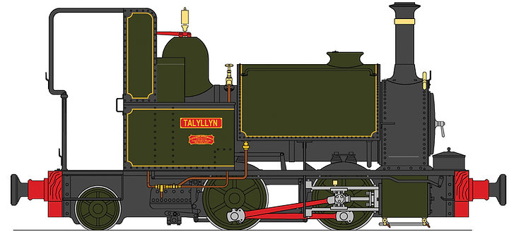 S19-35A Talyllyn 0-4-2ST, TR Green, 45mm gauge, Live Steam
