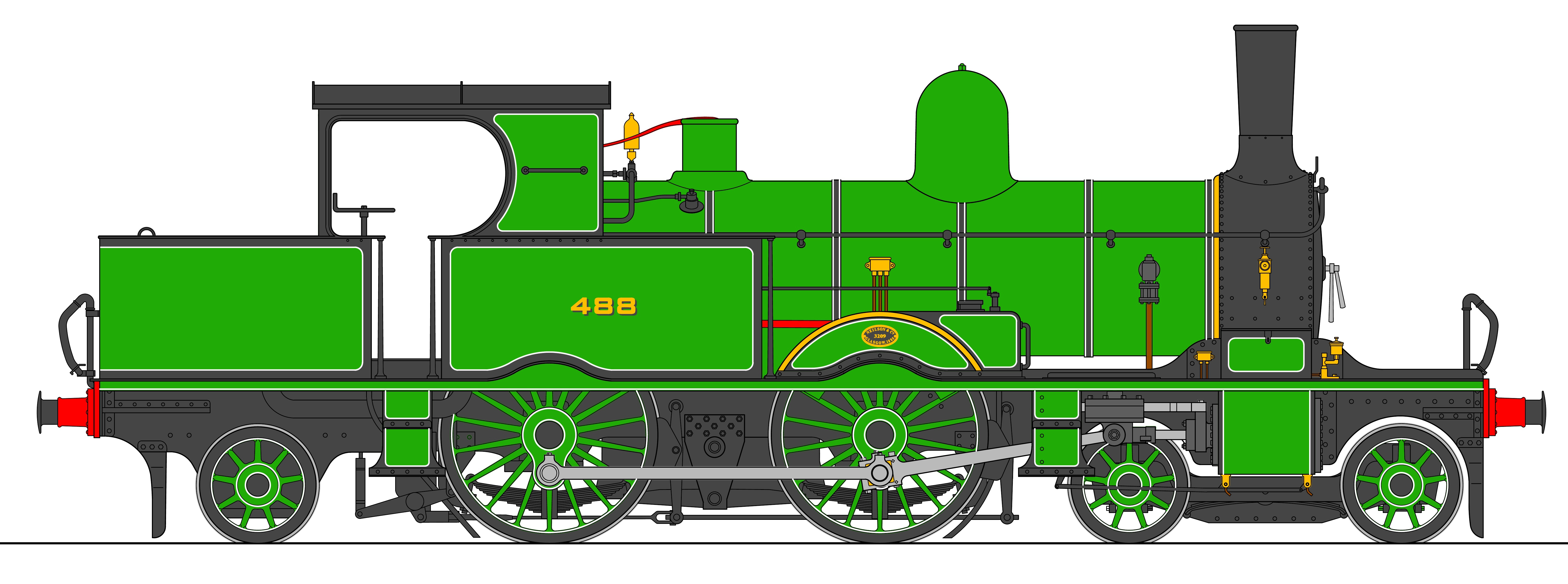 A-LSWR Green-side
