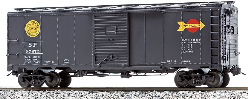 AM32-566X AAR Box Car - Southern Pacific (Overnight Service), Black, 1 car