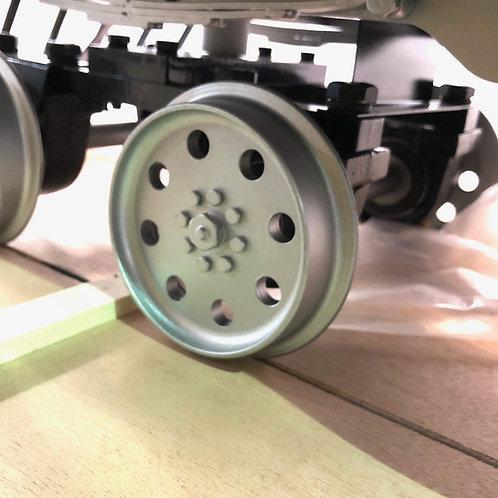 """T712-60 7 1/2"""" Gauge Front Truck Wheel Set (1 axle, 2 wheels) for Goose #6"""