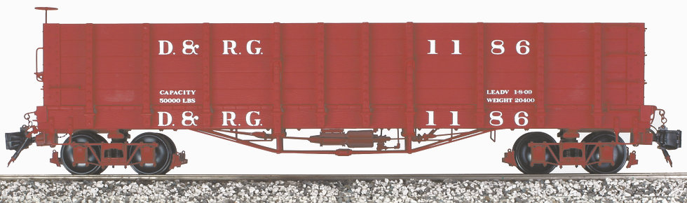 AM2202-17 High Side Gondola - D&RG, 1 car