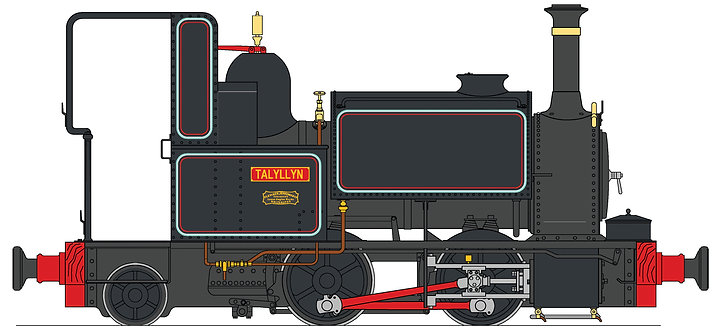 S19-35C Talyllyn 0-4-2ST, Black, 45mm gauge, Live Steam