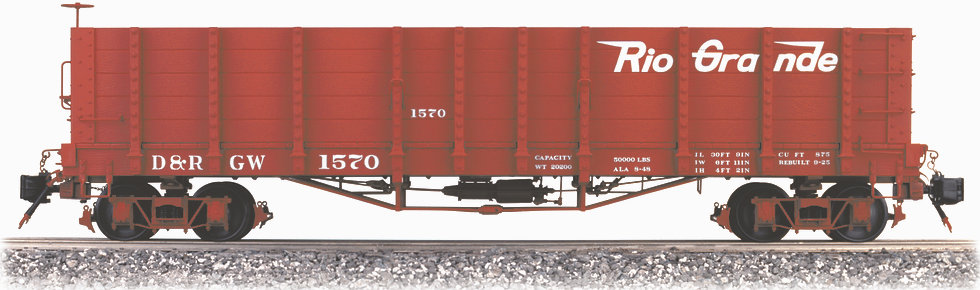 AM2202-12 High Side Gondola - Flying Rio Grande, 1 car