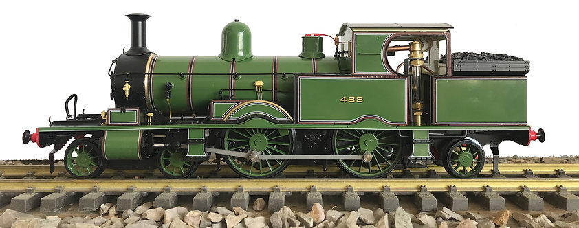 1:32 S32-15B Adams Radial Tank, L&SWR Drummond Green #488, Fully Lined, RTR