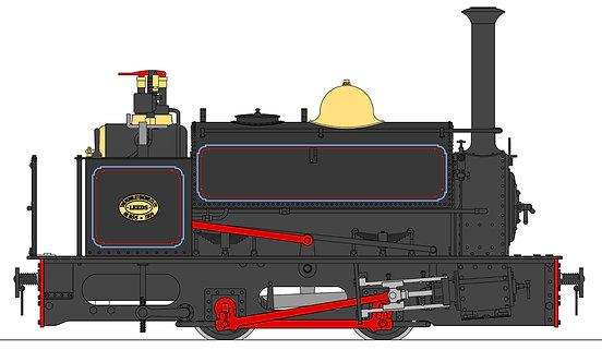 S19-37C Quarry Hunslet 0-4-0ST, Penrhyn Lined Black (32mm)