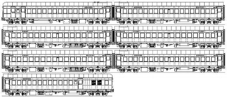 AL94-104S NSW Govt. Railways 'HUB' Coaches - Full Hub Set, 7 coaches