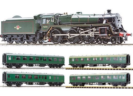 AST-107-GK-PKG BR Standard 5MT 4-6-0, Green, Kit w/ 4 MK1 Coach