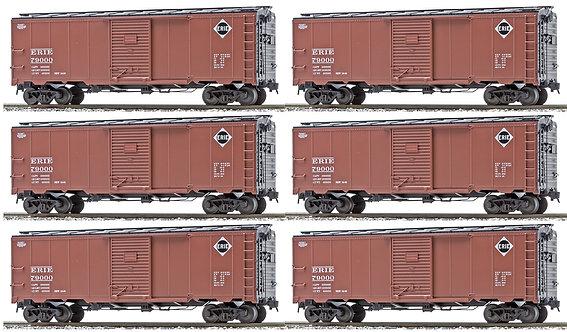 AM32-563 AAR Box Car - Erie Railroad, 6-car set