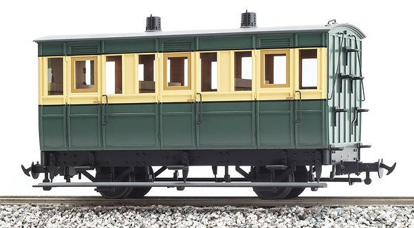 R19-10GX  IoM 4 Wheel Coach – 3rd – Green/Cream, 1 car