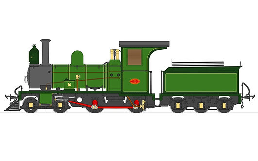 S19-36A Lawley NG6 4-4-0, Beira Railway Green, Live Steam