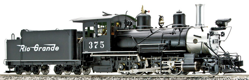 On3 - AM58-2113 C-25 2-8-0 D&RGW #375, Black with Flying Rio Grande