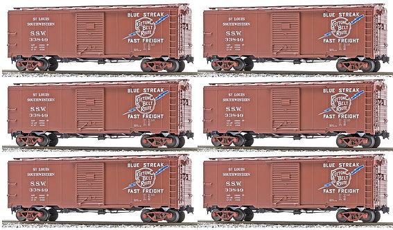 AM32-565 AAR Box Car - St. Louis Southerwestern (SSW), 6-car set