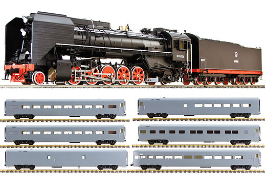 AL97-531-PKG Iowa Interstate QJ 2-10-2 #7081 w/ 6 Passenger Cars, Butane Fired