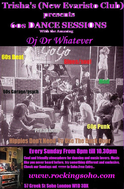 60s dance session DJ Dr Whatever