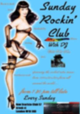 Sunday Rocking Club Flyer