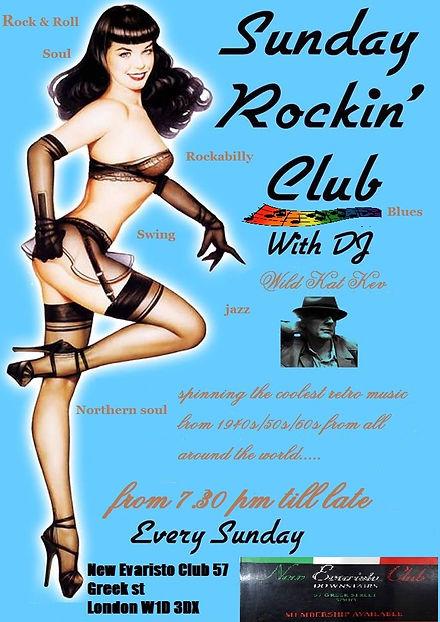 Sunday Rocking Club Flyer