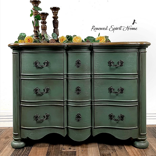 French Country Buffet. Serpentine Sideboard. French Farmhouse Credenza.