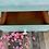 Thumbnail: Boho Farmhouse Secretary Desk. Small Vintage Drop Front Desk.  Shabby Chic Desk