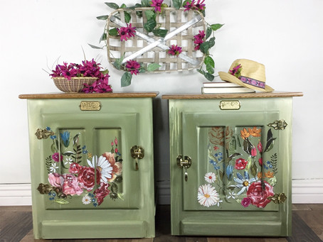 Farmhouse Floral Nightstands