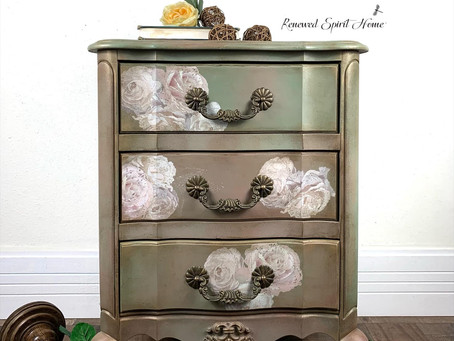 French Provincial Bedside Table Glow Up