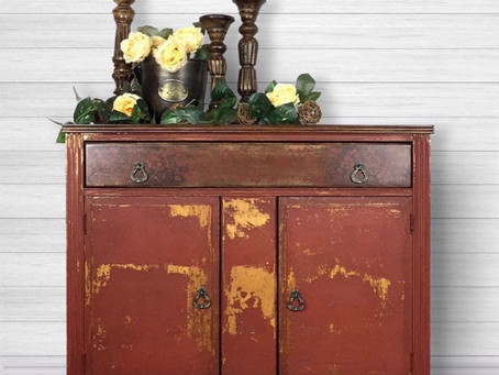 Rusty Red Buffet Cabinet