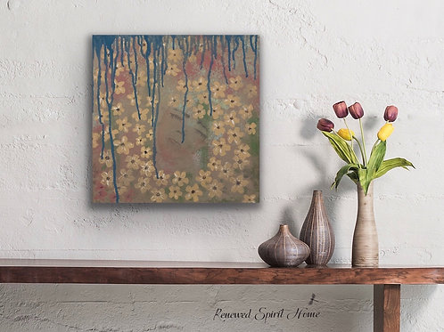 Abstract Woman in Nature. Bohemian Artwork.