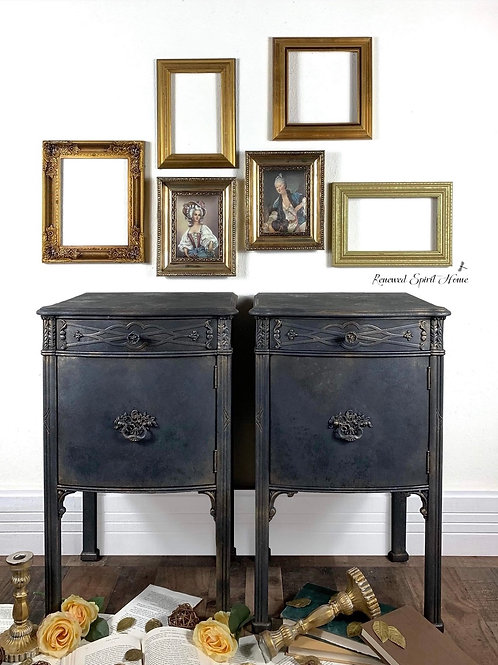 Game of Thrones Metallic Nightstands. Medieval Gothic Bedside Tables