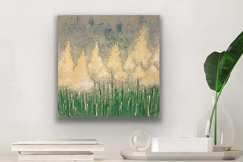 Fantasy Art. Abstract Forest Tree Art. Original Canvas Painting.