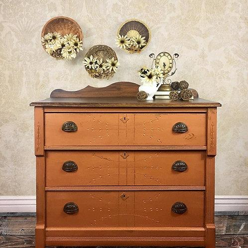 Antique Spoon Carved Eastlake Dresser