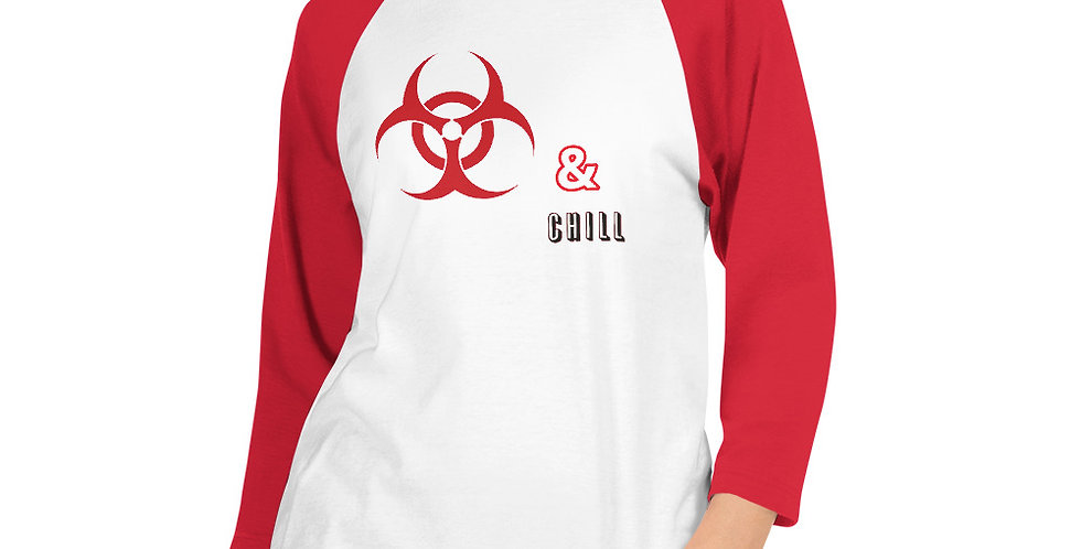 Womens Quarantine and Chill 3/4 sleeve
