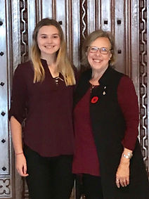 Stella Bowles with Leader of the Federal Green Party, Elizabeth May