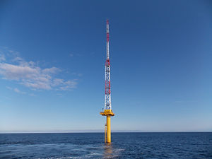 Met mast for offshore wind farm