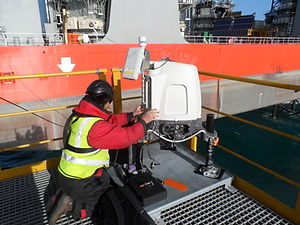 Offshore Lidar Maintenance met mast, wind farm, SCADA