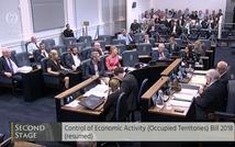 Irish Seanad (Senate) votes to approve unprecedented Occupied Territories Bill.