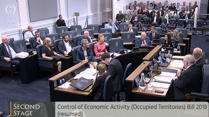 Irish Seanad (Senate) votes to approve unprecedented Occupied Territories Bill.