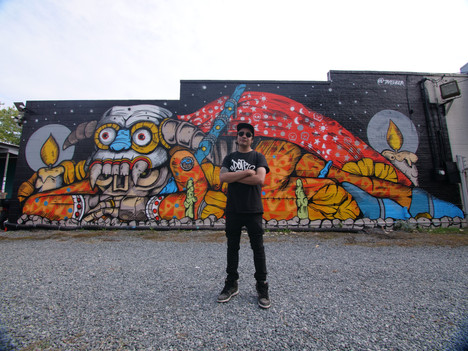 Charlotte, NC, 2018 by resideny Trasher For Talking Walls Mural Festival at InkFloyd