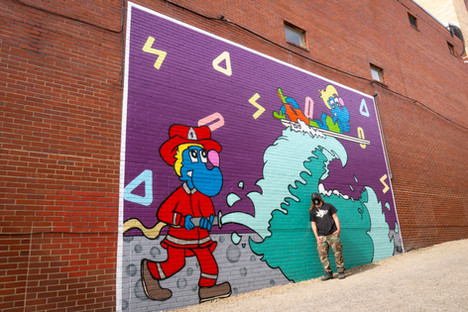 Indiana, PA. By Artist Ratchi NYC, 2020.