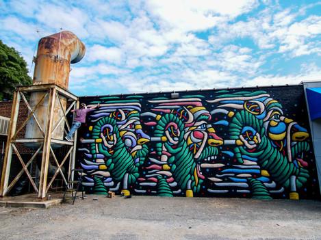 Charlotte, NC, 2018 By Denton Burrows For Talking Walls Mural Festival