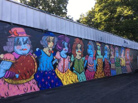 Charlotte, NC, 2018 By Ramiro Davaro-Comas For Talking Walls Mural Festival at Chasers