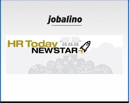"""jobalino als """"Newstar"""" bei HR Today"""