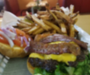 Perfect Game Burger with Fries