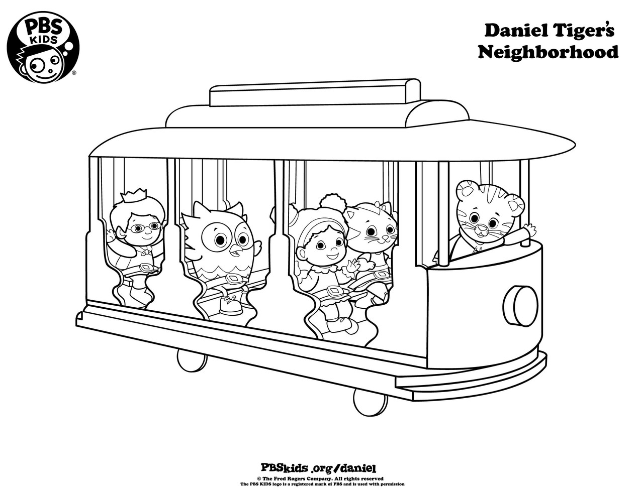 Coloring pages_Daniel Tiger and Friends_