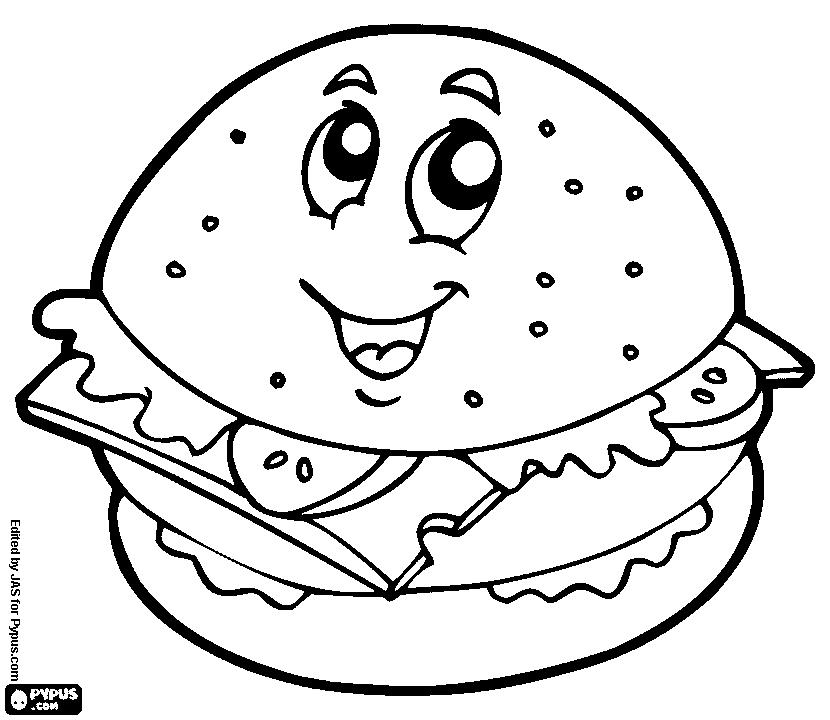 Preschool_Hamburger Coloring Page_3