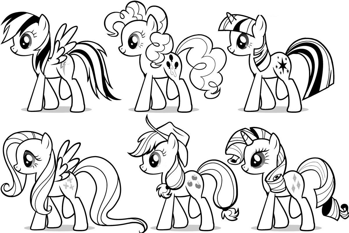 Preschool_My Little Pony Coloring Page