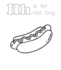 Coloring pages_Hot Dog_2_ June 2020