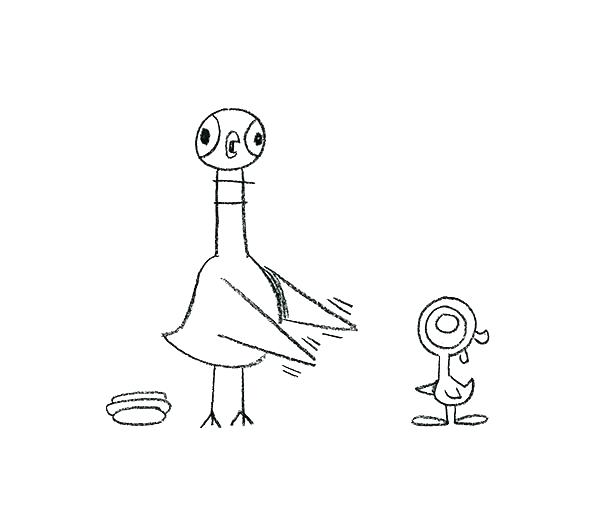 Coloring pages_Pigeon Finds a Hot Dog_Ju